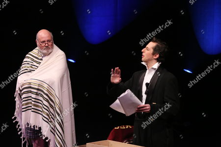 "From left, cast members Rob Reiner and Josh Grisetti perform during a staged reading of ""Enter Laughing, The Musical"" to benefit Center Theatre Group at the Mark Taper Forum on in Los Angeles, Calif"