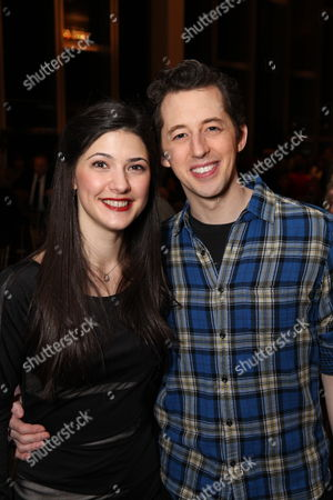 "From left, cast members Sara Niemietz and Josh Grisetti pose after a staged reading of ""Enter Laughing, The Musical"" to benefit Center Theatre Group at the Mark Taper Forum on in Los Angeles, Calif"