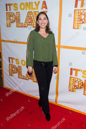 """Andrea Burns attends the re-opening of the Broadway show """"It's Only A Play"""" on in New York"""