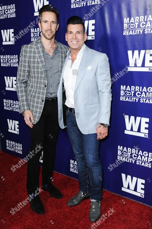 Stock Image of David Tutera and Joey Toth arrive at the Marriage Boot Camp Reality Stars Premiere Party held at Hyde Sunset, in Los Angeles