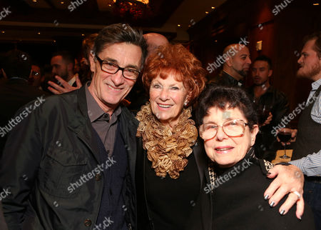 """From left, Director Roger Rees, actress Marion Ross and Sylvie Drake pose during the party for the opening night performance of """"Peter and the Starcatcher"""" at the Center Theatre Group/Ahmanson Theatre, in Los Angeles, Calif"""