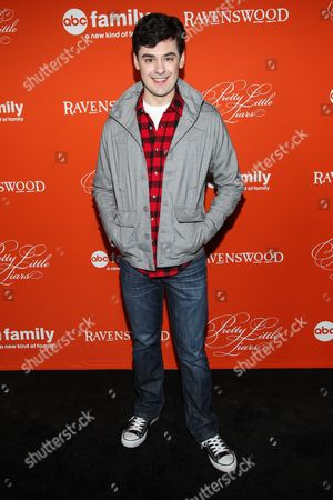 "Actor Brendan Robinson arrives at the ""Pretty Little Liars"" screening of a special Halloween episode at the Hollywood Forever Cemetery on in Los Angeles"