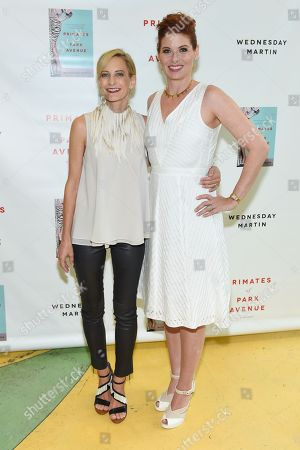 """Author Wednesday Martin, left, and actress Debra Messing attend the """"Primates Of Park Avenue"""" book release event at the Children's Museum of the East End in Bridgehampton, in New York"""