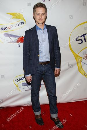 "Lucas Grabeel arrives at the ""Stand Up For Gus"" Benefit at Bootsy Bellows on in West Hollywood, Calif"