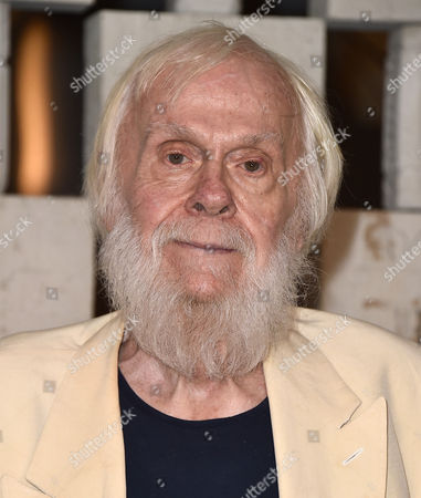 John Baldessari arrives at the 13th Annual Gala in the Garden at the Hammer Museum, in Los Angeles