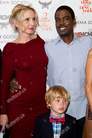 "Stock Photo of Julie Delpy, Owen Shipman and Chris Rock attend a special screening of ""2 Days In New York"" hosted by The Cinema Society at Landmark Sunshine Cinema on in New York"
