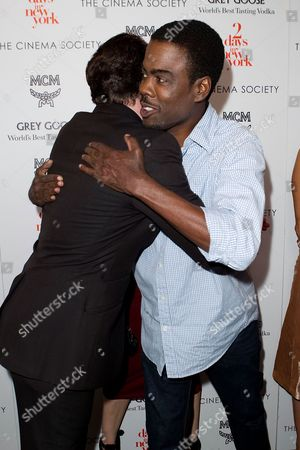"Stock Image of Alex Nahon and Chris Rock attend a special screening of ""2 Days In New York"" hosted by The Cinema Society at Landmark Sunshine Cinema on in New York"