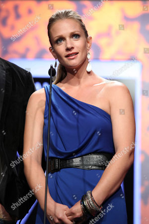 Actress AJ Cook presents during 2012 American Humane Association Hero Dog Awards held at the Beverly Hilton Hotel, in Los Angeles, Calif