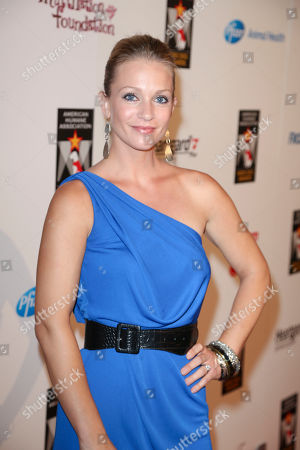 Actress AJ Cook arrivesduring 2012 American Humane Association Hero Dog Awards held at the Beverly Hilton Hotel, in Los Angeles, Calif