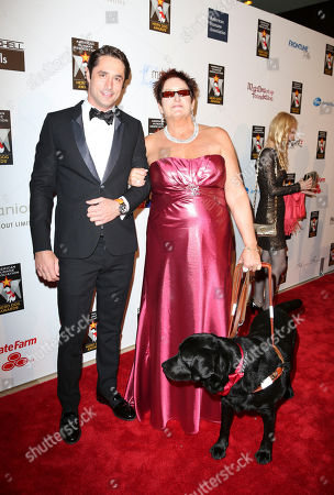 From left, Prince Lorenzo Borghese and Ann Drake arrive during 2012 American Humane Association Hero Dog Awards held at the Beverly Hilton Hotel, in Los Angeles, Calif