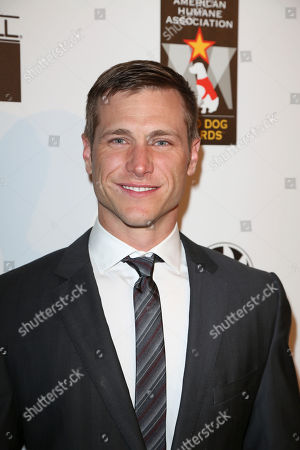 Jake Pavelka arrives during 2012 American Humane Association Hero Dog Awards held at the Beverly Hilton Hotel, in Los Angeles, Calif