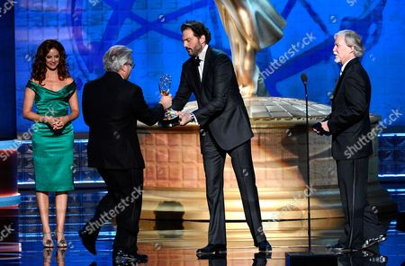 Stock Picture of LOS ANGELES, CA - SEPTEMBER 15: Silas Weir Mitchell and Jim Kouf present the award for Outstanding Special Visual Effects in a Supporting Role to the Team from Boardwalk Empire - Georgia Peaches onstage at the Academy of Television Arts & Sciences 64th Primetime Creative Arts Emmy Awards at Nokia Theatre L.A. Live on in Los Angeles, California