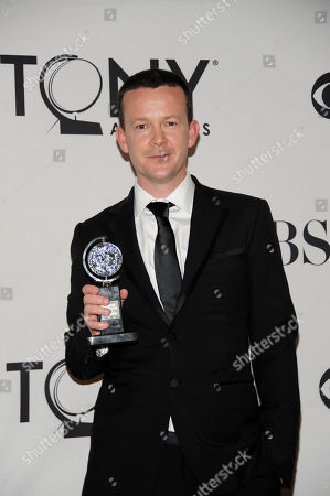 Enda Walsh arrives at the 66th Annual Tony Awards, in New York