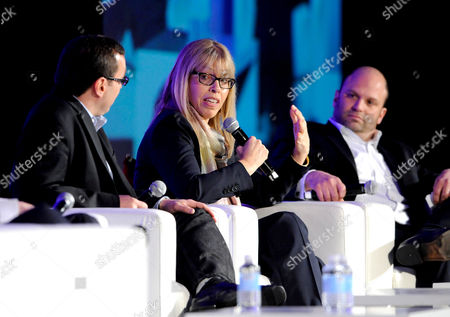 HOLLYWOOD, CA - MARCH 20: (L-R) EVP Marketing, Comedy Central Walter Levitt, President, Animal Planet & Science Chanel Marjorie Kaplan and SVP, Media & Technology, Ipsos MediaCT Ben Spergel participate in The Art of The Show Launch: How to Break Through the Clutter portion of the 2012 TV Summit Presented by Variety and the Academy of Television Arts & Sciences Foundation at the Renaissance Hollywood Hotel on in Hollywood, California