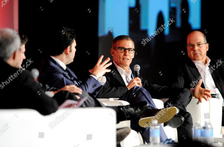 HOLLYWOOD, CA - MARCH 20: (L-R) CEO, Electus Chris Grant, President, HBO Programming Michael Lombardo, Co-President, USA Network & Co-Head, Original Content and Universal Cable Productions, Jeff Wachtel participate in the State of the Global TV Industry portion of the 2012 TV Summit Presented by Variety and the Academy of Television Arts & Sciences Foundation at the Renaissance Hollywood Hotel on in Hollywood, California
