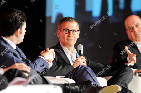 HOLLYWOOD, CA - MARCH 20: (L-R) CEO, Electus Chris Grant, President, HBO Programming Michael Lombardo and Co-President, USA Network & Co-Head, Original Content, Universal Cable Productions, Jeff Wachtel participate in the State of the Global TV Industry portion of the 2012 TV Summit Presented by Variety and the Academy of Television Arts & Sciences Foundation at the Renaissance Hollywood Hotel on in Hollywood, California