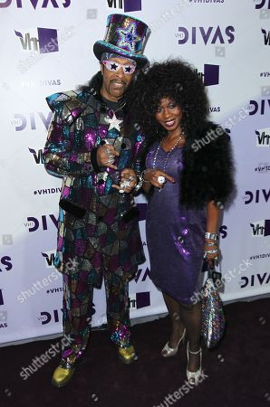 Bootsy Collins, left, and Patti Collins arrive at VH1 Divas, at the Shrine Auditorium in Los Angeles