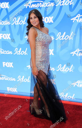 """Mikalah Gordon arrives at the """"American Idol"""" finale at the Nokia Theatre at L.A. Live, in Los Angeles"""
