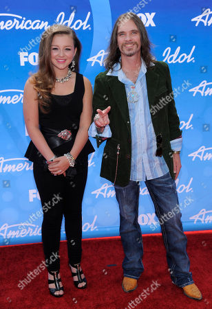 """Bo Bice, right and a guest arrive at the """"American Idol"""" finale at the Nokia Theatre at L.A. Live, in Los Angeles"""