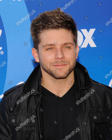 "Chris Richardson arrives at the ""American Idol"" finale at the Nokia Theatre at L.A. Live, in Los Angeles"