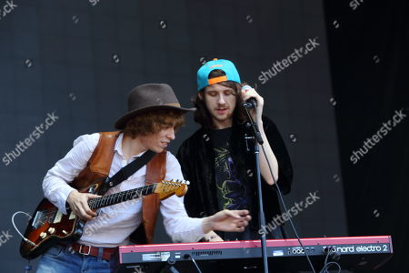 Jonathan Rado, Sam France and Foxygen performs on day 3 of the 2013 Austin City Limits Music Festival at Zilker Park on in Austin Texas