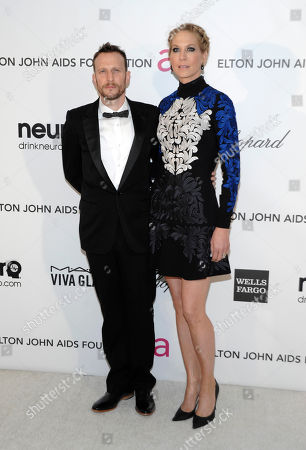 Actor Bodhi Elfman, left, and actress Jenna Elfman arrive at the 2013 Elton John Oscar Party in West Hollywood, Calif. on