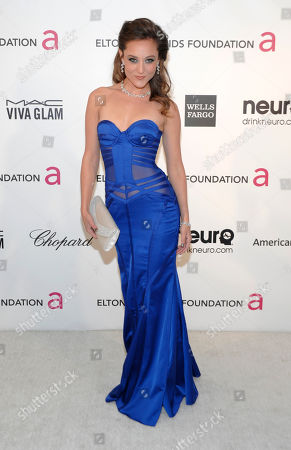Actress Lauren Mayhew arrives at the 2013 Elton John Oscar Party in West Hollywood, Calif. on
