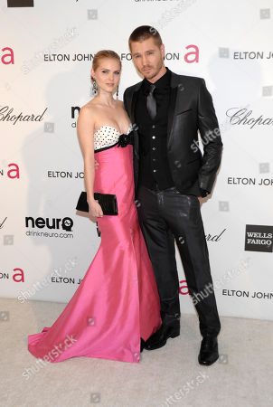 Actor Chad Michael Murray, right, and actress Kenzie Dalton arrive at the 2013 Elton John Oscar Party in West Hollywood, Calif. on