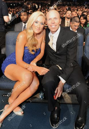 Kerri Walsh Jennings, left, and Casey Jennings pose in the audienceat the ESPY Awards, at the Nokia Theater in Los Angeles