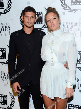 French actors Jeremie Laheurte, left, and Adèle Exarchopoulos attend the 79th Annual New York Film Critics Circle Awards at the Edison Ballroom on in New York