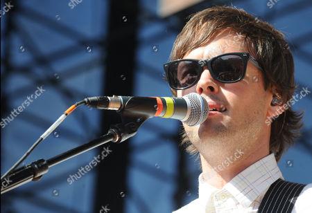 Keith Jeffery, of Atlas Genius performs at the 2013 KROQ Weenie Roast at the Verizon Wireless Amphitheatre on in Los Angeles