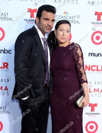 Stock Image of Ricardo Chavira, left, Marcea Dietzel arrive at the NCLR ALMA Awards at the Pasadena Civic Auditorium, in Pasadena, Calif
