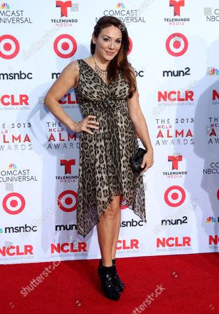 Jill-Michele Melean arrives at the NCLR ALMA Awards at the Pasadena Civic Auditorium, in Pasadena, Calif