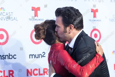 Eva Longoria and Ricardo Antonio Chavira arrive at the NCLR ALMA Awards at the Pasadena Civic Auditorium, in Pasadena, Calif