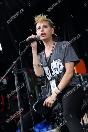 Juliett Simms Juliet Simms performs at the 2013 Van's Warped Tour at the Central Florida Fairgrounds on inOrlando Florida
