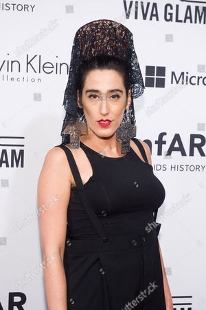 Ladyfag attends amfAR's fifth annual Inspiration Gala on in New York