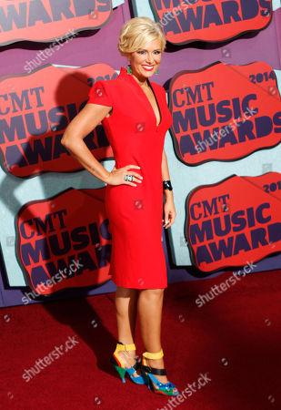Stock Photo of Allison DeMarcus arrives at the CMT Music Awards at Bridgestone Arena, in Nashville, Tenn