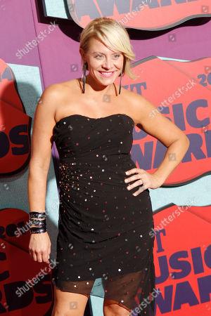 Stock Photo of Gwen Sebastian arrives at CMT Awards arrival at Bridgestone Arena, in Nashville,Tenn