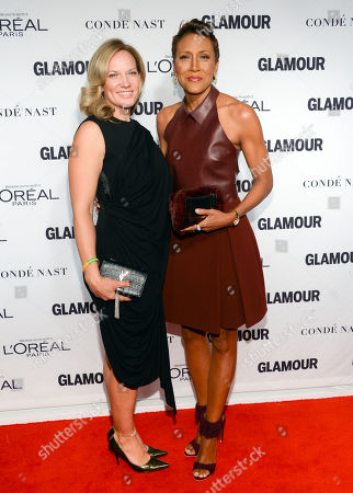 Robin Roberts and girlfriend Amber Laign attend the 2014 Glamour Women of the Year Awards at Carnegie Hall, in New York