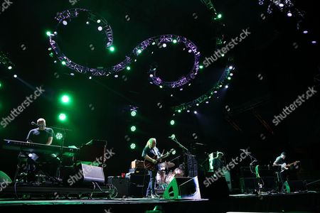 John Medeski, Warren Haynes, Phil Lesh, John Scofield (L-R) and Phil Lesh & Friends performs at the 2014 Lock'n Festival, in Arrington, Virginia