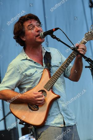 Special guest Keller Williams performs with Bill Kreutzmann's Locknstep Allstars at the 2014 Lock'n Festival, in Arrington, Virginia
