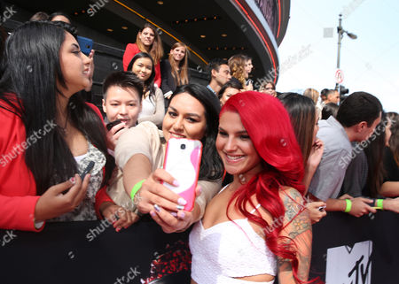 Carly Aquilino arrives at the MTV Movie Awards, at Nokia Theatre in Los Angeles
