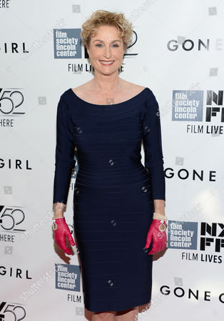 """Actress Lisa Banes attends the opening night gala world premiere of """"Gone Girl"""" during the 52nd New York Film Festival at Alice Tully Hall, in New York"""