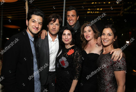 Ben Schwartz, Jason Bateman, Sue Kroll, President of Worldwide Marketing and International Distribution at Warner Bros. Pictures, Justin Theroux, Kathryn Hahn and Amanda Anka seen at Warner Bros. Pictures/Dolce&Gabbana cocktail party hosted by Sue Kroll and Greg Silverman at the Toronto International Film Festival, in Toronto