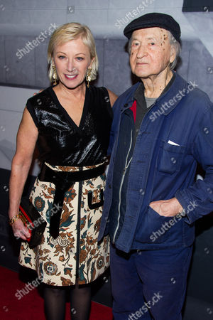 Stock Photo of Cindy Sherman and Jonas Mekas attend the Whitney Museum Gala on in New York