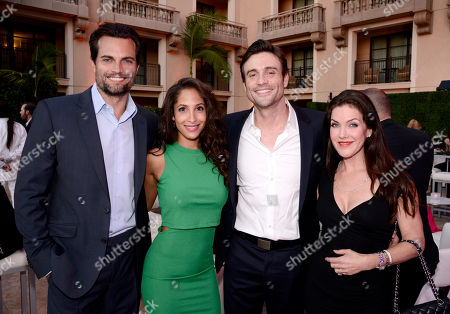 Scott Elrod, from left, Christel Khalil, Daniel Goddard and Kira Reed Lorsch seen at the Television Academy's 67th Emmy Daytime Peer Group Celebration at the Montage Beverly Hills on in Beverly Hills, Calif