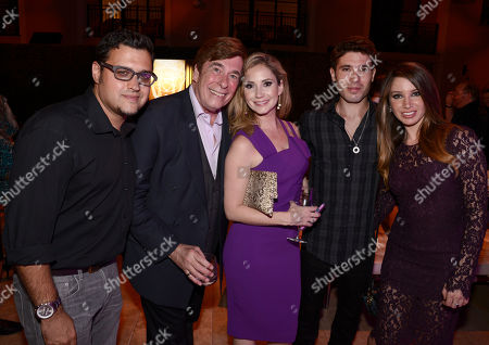 Gregori J. Martin, from left, David Michaels, Ashley Jones, Kristos Andrews and Celeste Fianna seen at the Television Academy's 67th Emmy Daytime Peer Group Celebration at the Montage Beverly Hills on in Beverly Hills, Calif