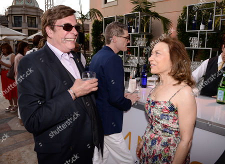 David Michaels, left, and Kathie Barnes seen at the Television Academy's 67th Emmy Daytime Peer Group Celebration at the Montage Beverly Hills on in Beverly Hills, Calif
