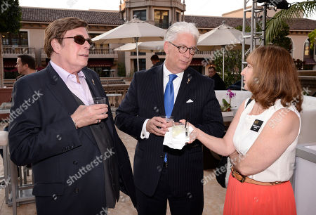David Michaels, from left, Bob Mauro and Kathie Barnes seen at the Television Academy's 67th Emmy Daytime Peer Group Celebration at the Montage Beverly Hills on in Beverly Hills, Calif