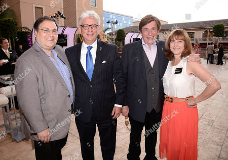 Bob Boden, from left, Bob Mauro, David Michaels and Susan Nessanbaum-Goldberg seen at the Television Academy's 67th Emmy Daytime Peer Group Celebration at the Montage Beverly Hills on in Beverly Hills, Calif